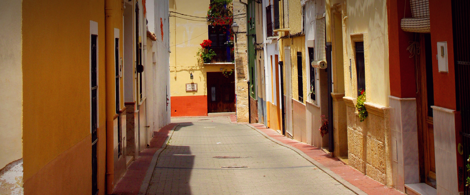 Street of one of the villages of the Vall de Gallinera