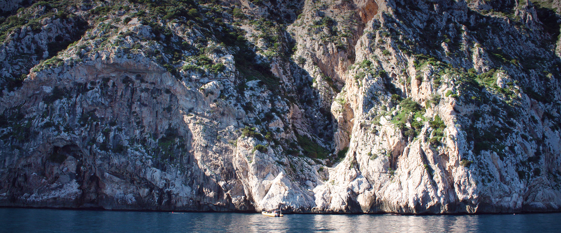 Cliffs in the Peñón de Ifach
