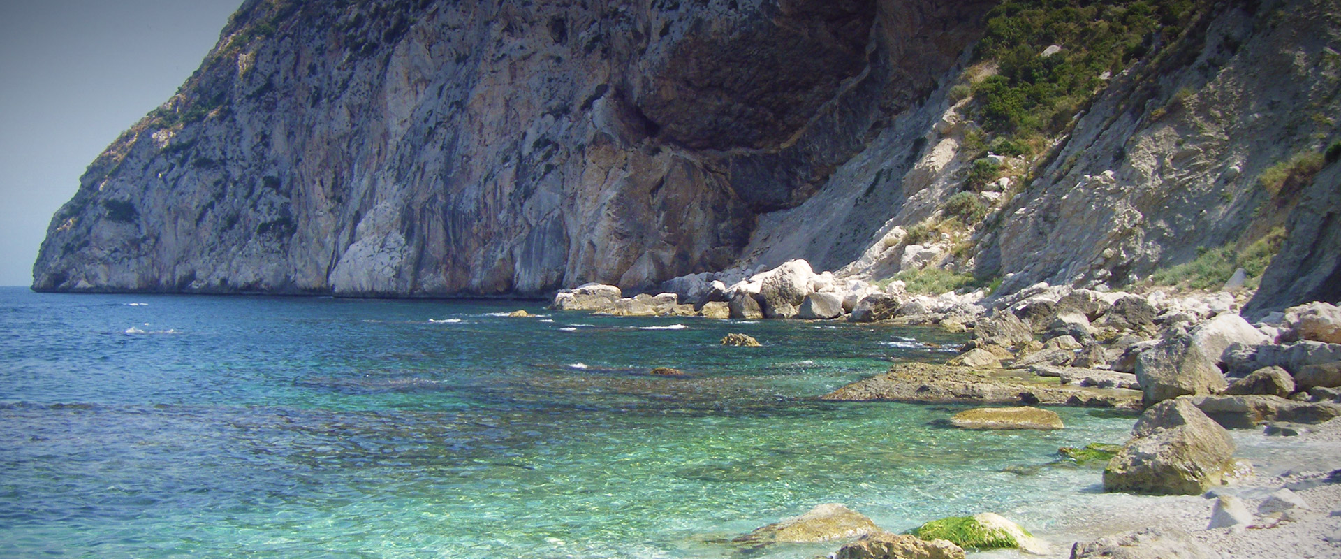 Cove in the Peñón de Ifach
