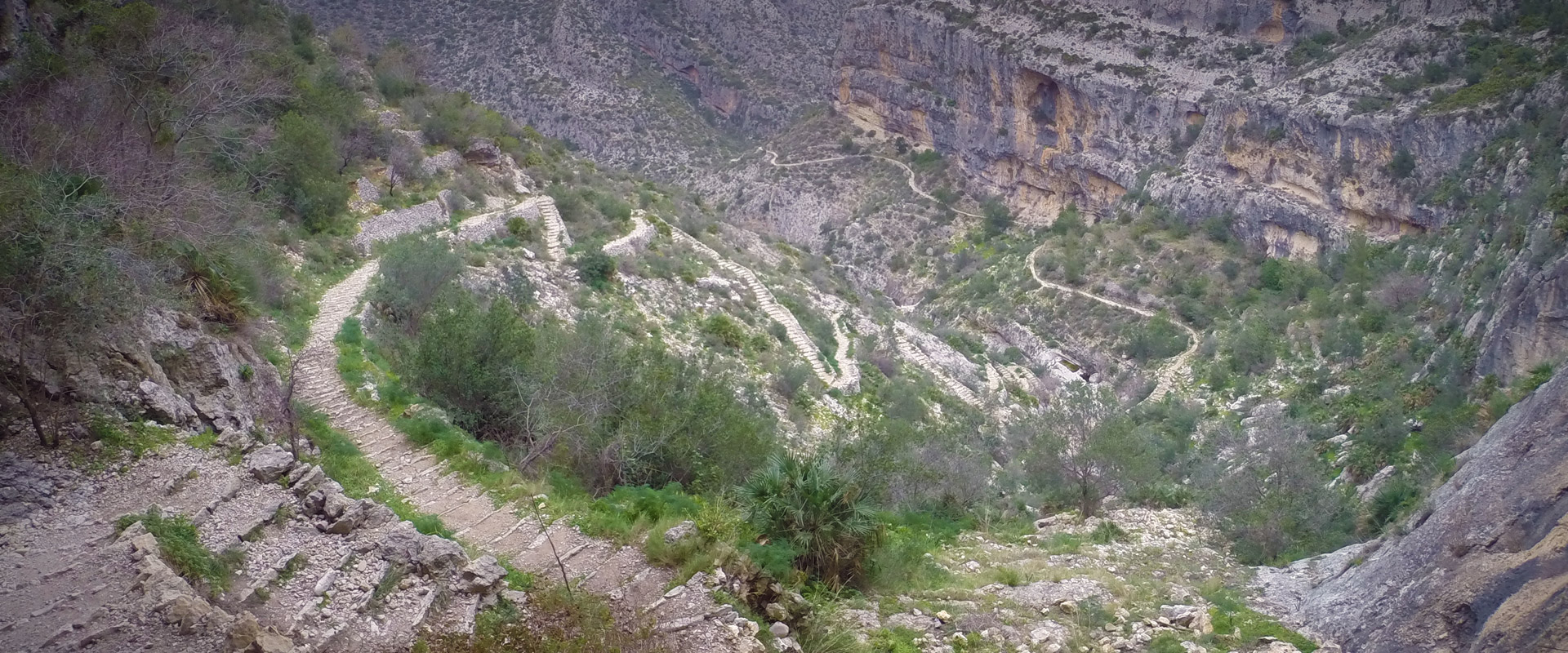 Stairs in hells gully